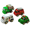 6pcs lot Pull Back Car Toys Car Children Racing Car Baby Mini Cars Cartoon Bus Truck
