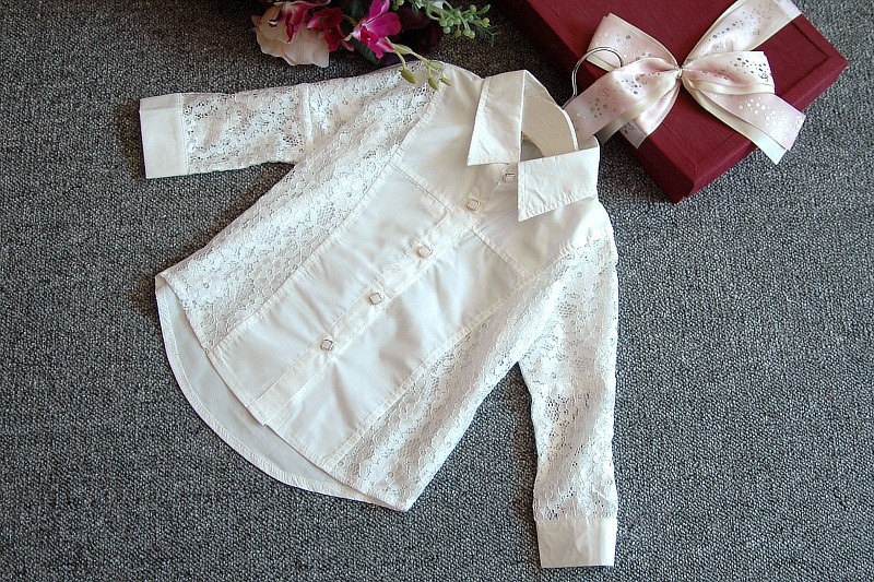 new2015 autumn winter lace blouse+pu skirts 2pcs toddler girl clothing sets conjunto menina suit 2~7age infants kids clothes set
