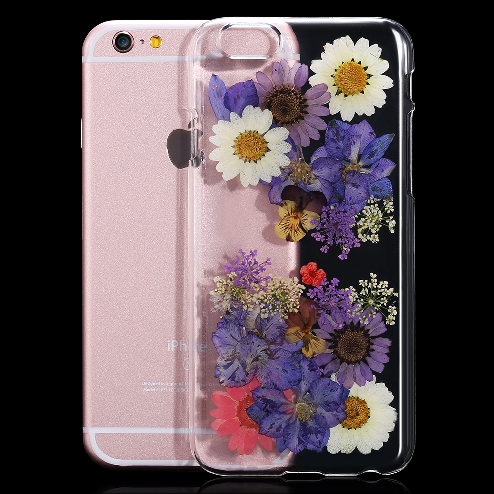 2016 New For iPhone 6 6S For iPhone6 Plus \/ 6S Plus Case Genuine Dried Flower Handmade Cover