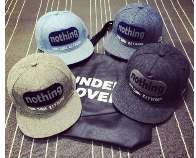 Free shipping south Korean design men's women's leisure letters grinding flat hat Mao Ping eaves baseball hat Flannelette cap(China (Mainland))