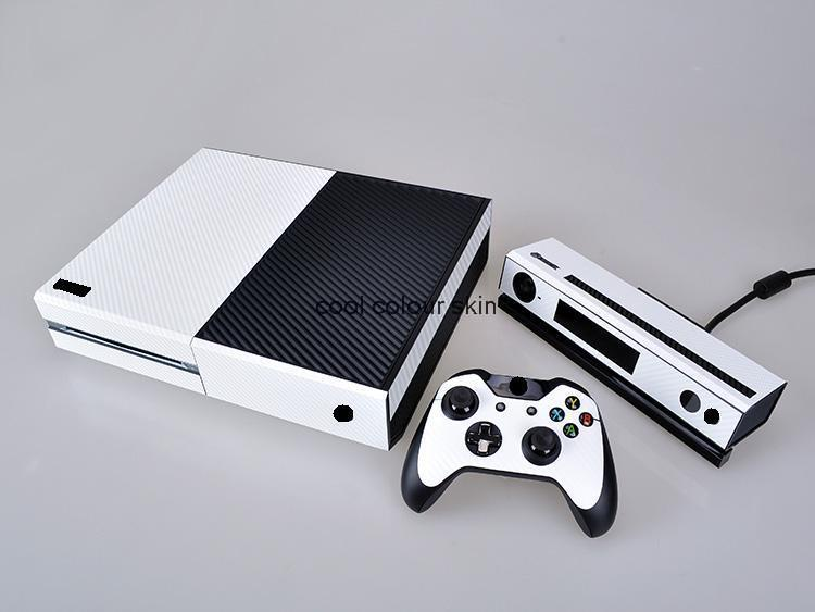 White Carbon Fiber Vinly Skin Sticker Microsoft Xbox One 2 controller skins Stickers XBOXONE - Cool Colour store