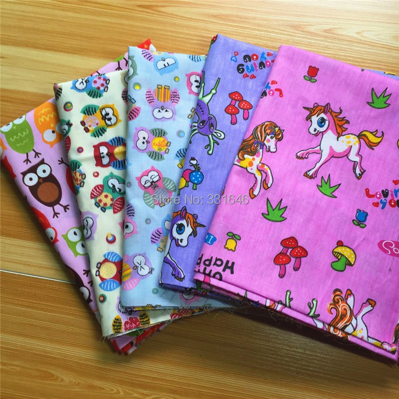 40*50cm Cute Cartoon Cotton Fabric Quarter Bundle Telas Patchwork Tilda DIY Doll Tissu Sewing Baby Bedding Textil Tecido - Amy Handmade Store store