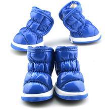 Kat Tasarım Kış Köpek Ayakkabı Deri köpek ayakkabıları Sıcak moda ürünü Soğuk Rahat Cilt dostu Pet köpek çizmeleri(China)