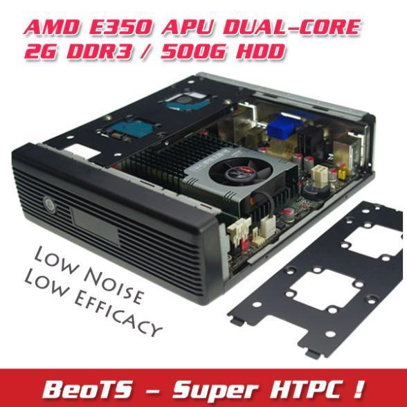 HOT Mini PC HTPC AMD E350 500G HDD DDR3 2GB Ultra-low-efficacy