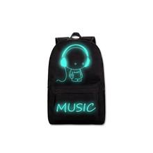 DC. MeiLun модный школьный рюкзак со светящимся рисунком на тему аниме USB зарядка школьный рюкзак для ноутбука рюкзак для подростков мальчиков и...(China)