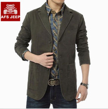 Plus size 4XLBrand AFS JEEP jacket Men 2016 New Autumn winte Spring business man casual coat jackets 100% cotton single breasted(China (Mainland))