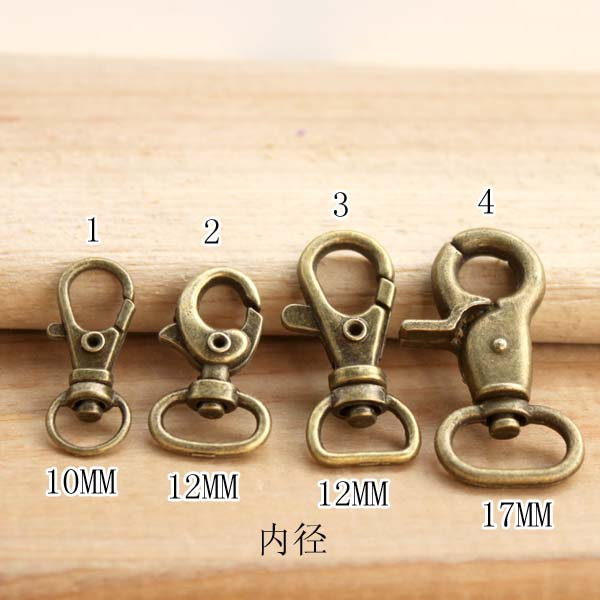 40 pieces Wholesale 4 Size Mixed Metal Dog Buckle Suspenders Buckle Lobster Clasp Clip Diy Metal Accessories bags hanger FL003(China (Mainland))