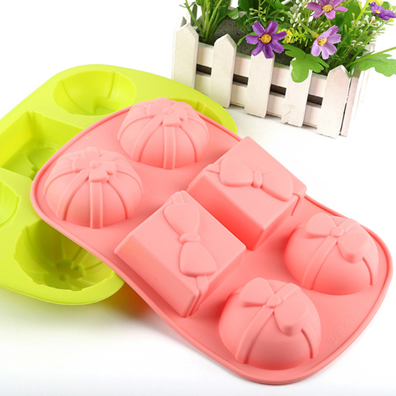 27.5*17.2*3.2cm Gift Box Shape Cake Mold Silicone Cups Cake Manufacture Mold(China (Mainland))