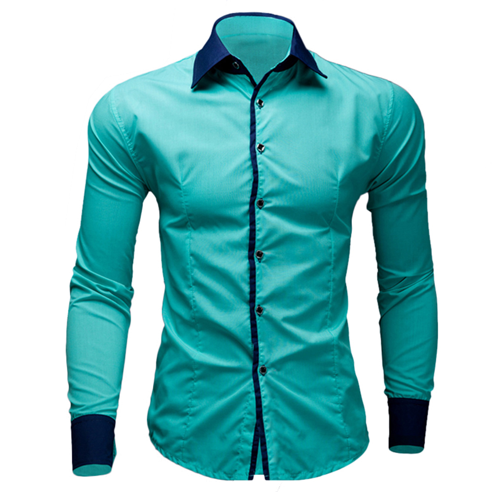 Brand new mens dress shirts casual shirts type slim long for Long dress shirts mens