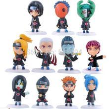 Anime Naruto Akatsuki PVC Action Figures Collectable Model Toys Doll 6.5cm 11pcs/set NTFG019