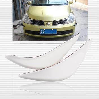 One pair White Tone Soft Plastic Decorative Trim Car Bumper Guard Sticker automobile motor