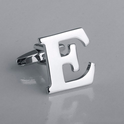 Men's Fashion Initial Cufflink Fathers Day Wedding Birthday Alphabet A to Z Letter Button
