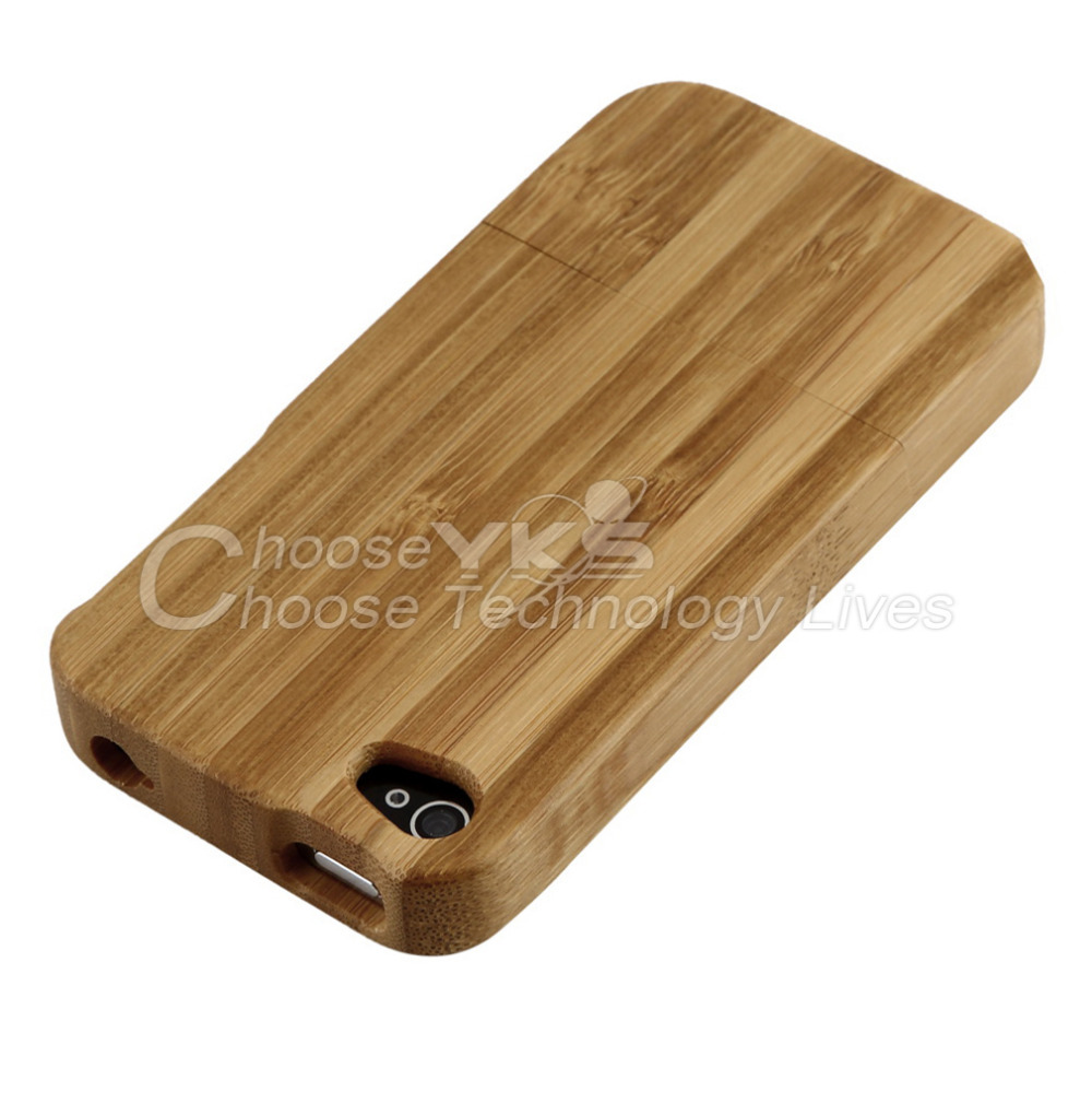 5pcs Wood color Bamboo Wood Hard Back Case Cover Protector for iPhone 4 wholesale Dropshipping(China (Mainland))