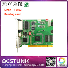 Linsn TS802 sending card 640*2048 pixel video controller card synchronous rgb sending program ts802d for LED video screen wall(China (Mainland))