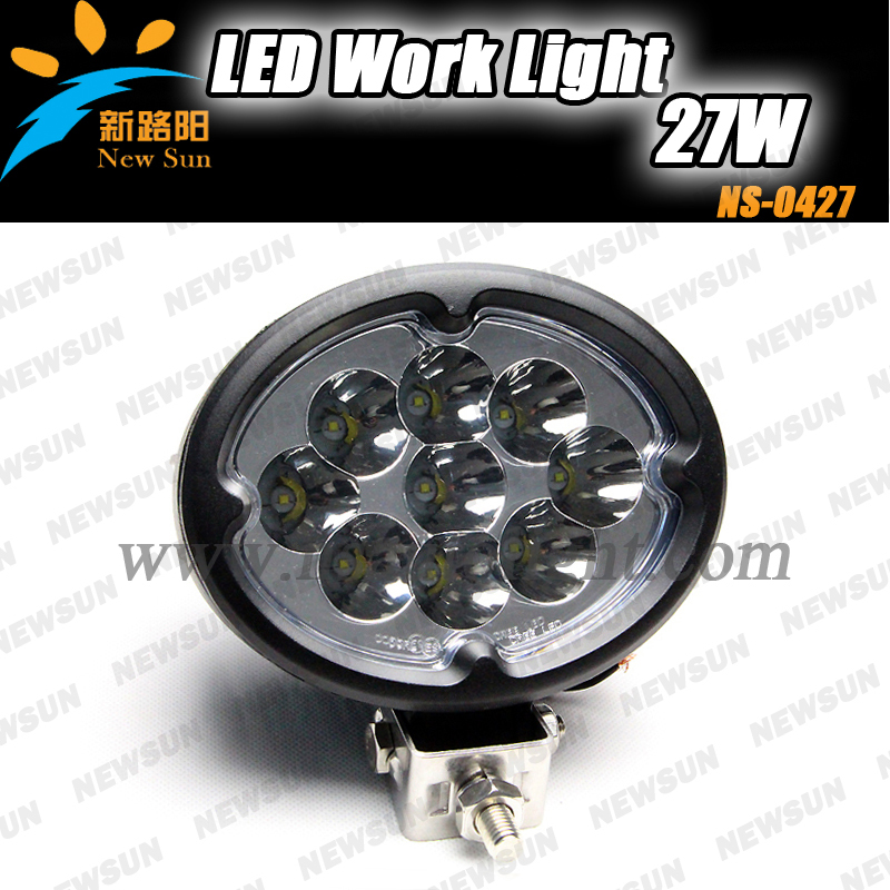 2014 Waterproof IP68 CREE 27W LED Work Light circle 27w led work lights truck Boat Tractor light Driving Lamp - Nanjing Newsun Photoelectric Limited Company store