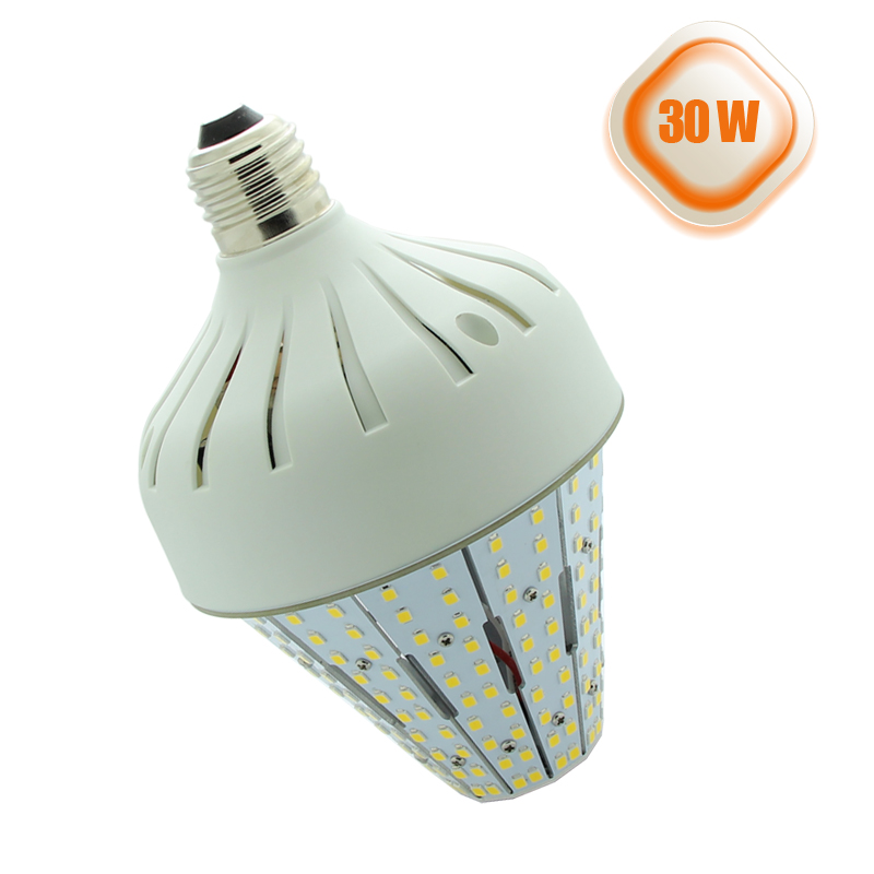 30 Watts Medium Base E26 Led Corn Light Bulbs Post Top Acorn Led Stubby Lights Street Area Lighting(China (Mainland))