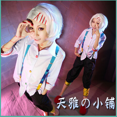 Free Shipping New 2015 Tokyo Ghoul Costume Juuzou Suzuya Full Set Outfits Women Tokyo Ghoul CosplayÎäåæäà è àêñåññóàðû<br><br>