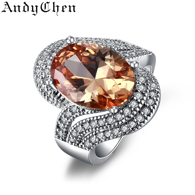 Amber stone 925 silver filled trendy wedding rings for for Amber stone wedding ring