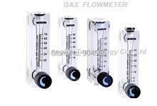 Gran flujo Panel medidor de flujo de oxígeno de aire rotámetro del medidor de flujo de gas con válvula de control diferentes rango de flujo disponible
