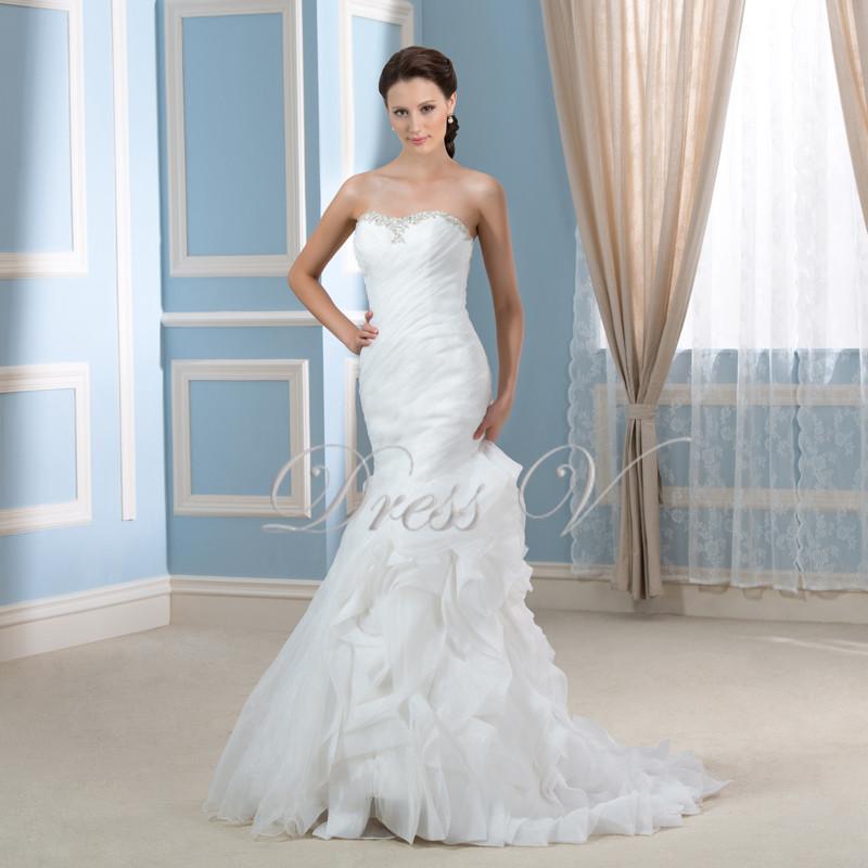 Mermaid Wedding Dresses Pleated : New arrival sweetheart mermaid wedding dresses