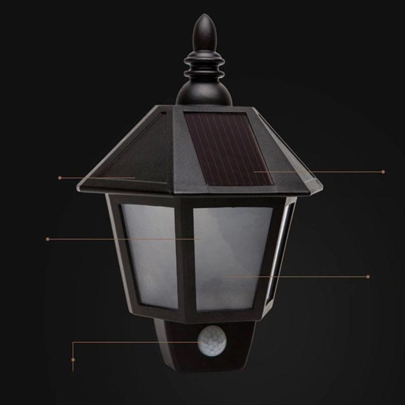 solar motion sensor light outdoor pir solar power led. Black Bedroom Furniture Sets. Home Design Ideas