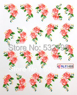 Freeshipping Watermark nail art applique finger water transfer printing nail art accessories finger sticker ble series