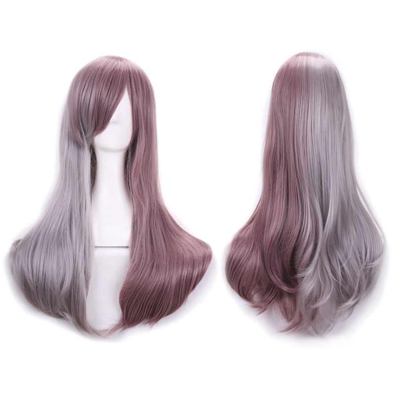 68cm Grey/Brown Synthetic Wigs Harajuku Lolita Bangs Hair Wigs Ombre Cheap Anime Cosplay Wigs Perruque Femme Costume Party Wig<br><br>Aliexpress