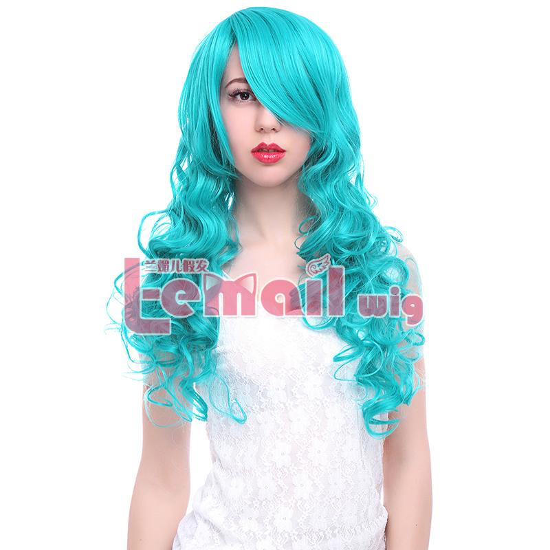 65cm long Blue&amp;Green Curly Anime Hair Cosplay Wig ML179N<br><br>Aliexpress