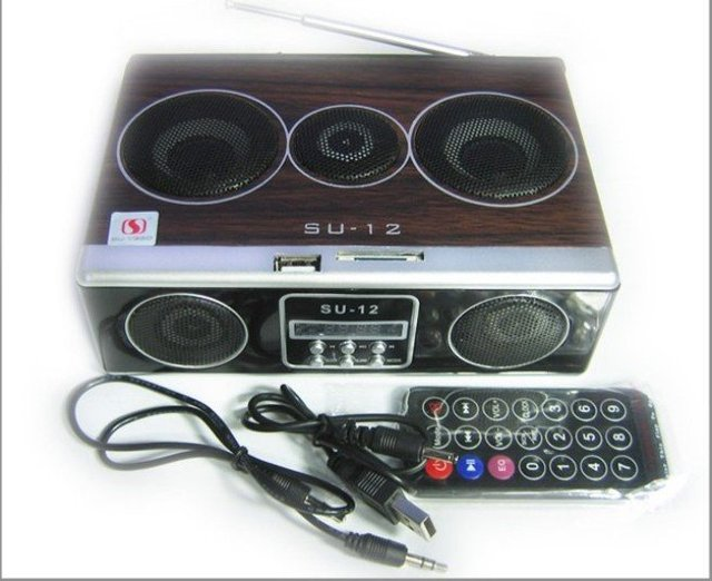 Wholesale 5pcs/lot Mini Sound box MP3 player Mobile Speaker boombox FM Radio SD Card reader USB SU12 DHL free shipping