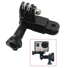 3 Way Pivot Arm Extension Assembly Link Helmet Mount + Thumb Screw For GoPro Hero 3 3+ 4 Black Plastic Aluminum