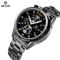 MEGIR Multifunction Watch Famous Brand Luxury Men Full Steel Watches Chronograph 24 Hours Military Watch Relogio