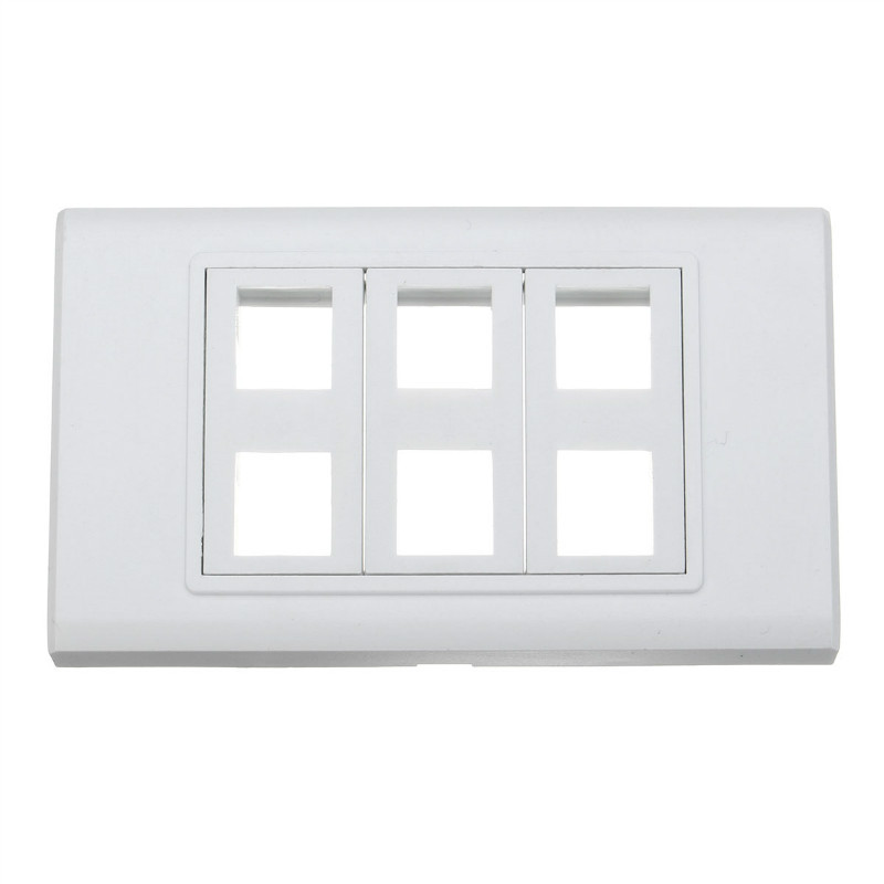 New Arrival Household Buliding material Standard Grounding Six ports wall plate Wall Socket with 120 X 70mm(China (Mainland))