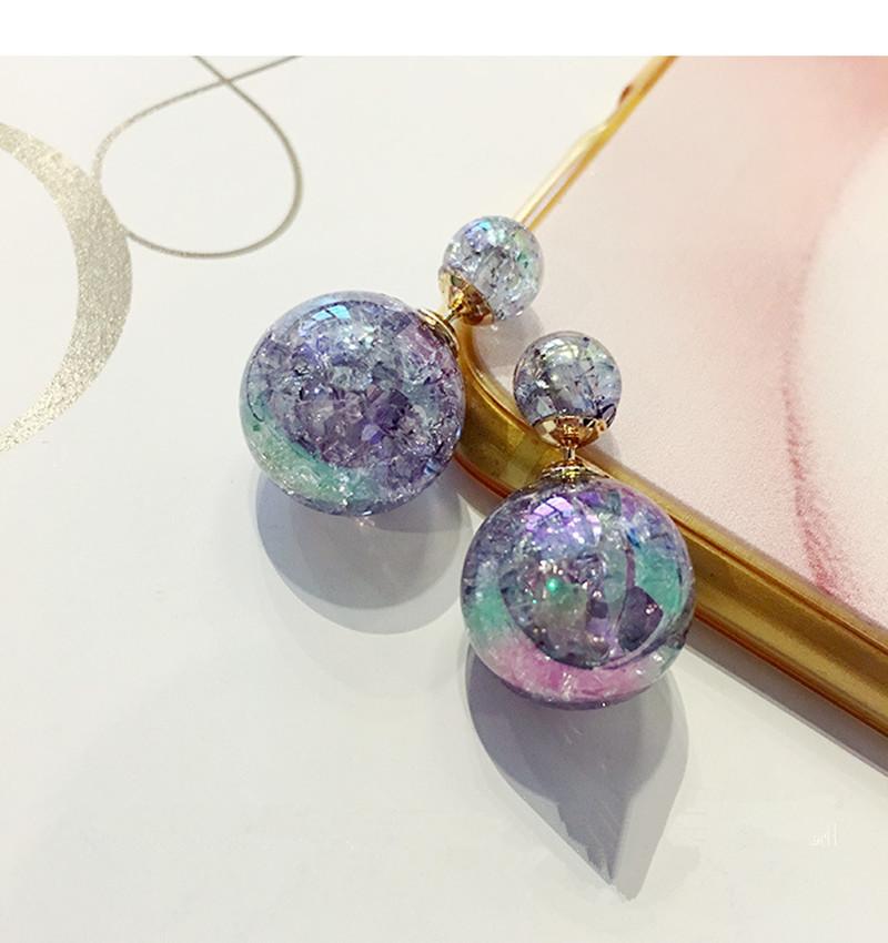 Sunshine 2016 Fashion Women Luxury Gold Plated glass ball Earring crystal Flower Double Stud Earrings For Women Girl wedding(China (Mainland))
