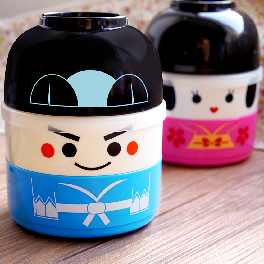 hakoya geisha doll kawaii cute japanese bento lunch box for kids picnic school food container. Black Bedroom Furniture Sets. Home Design Ideas