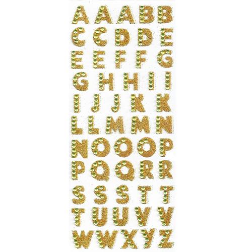 Oro e Argento 4 Fogli Lettera Adesivi Alfabeto Sticker Glitter Adesivi alfabeti