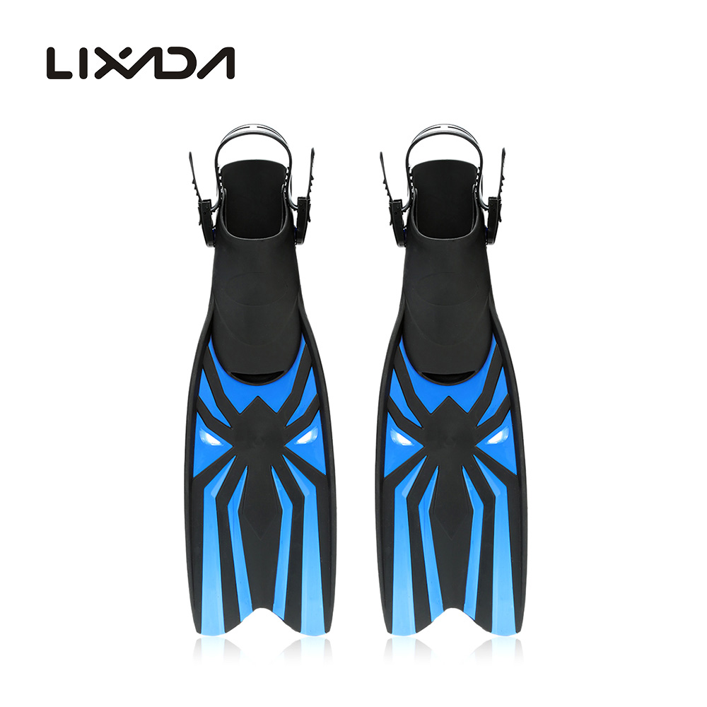 LIXADA Swim Fins Snorkeling Foot Flipper Diving Long Fins Swimming Equipment Water Sports Training Scuba Diving Fins(China (Mainland))