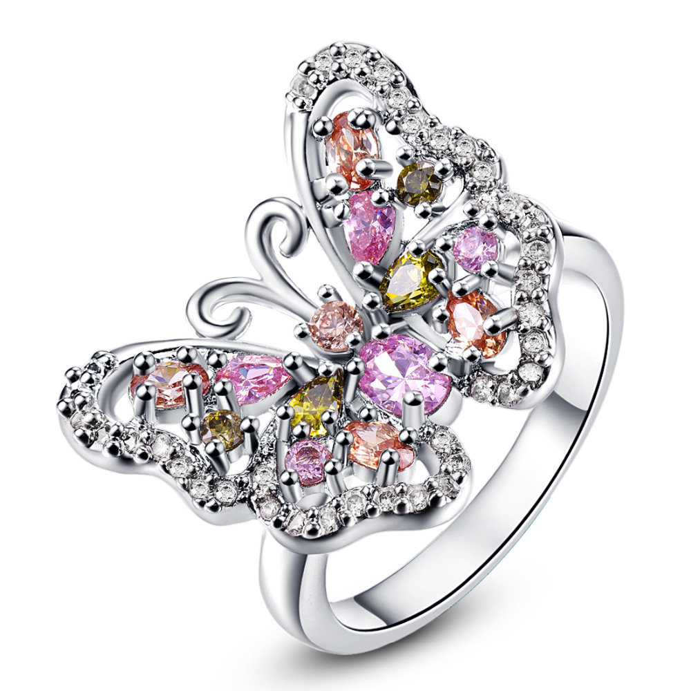 line Buy Wholesale morganite butterfly ring from China morganite butterfly