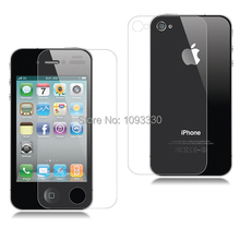 Front+Back HD PET Clear Anti Scratch Screen Protectors Full Body Screen Guard Film For iPhone 5 5S 5G Free Cleaning cloth