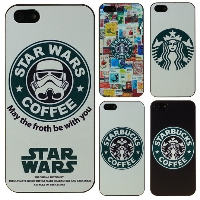Hot Star Wars Coffee Design Phone case iPhone 4 4S 5 5s 5c SE 6 6S Plus - Jane's Fashion Accessories store