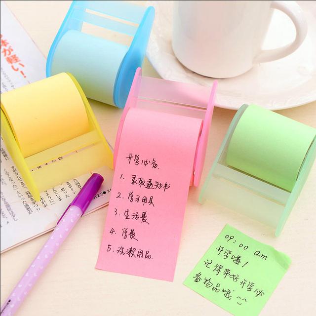 1 х флуоресцентная бумага стикер memo pad заметки разместить его kawaii канцелярские материал эсколар школьные принадлежности
