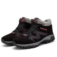 EOFK 2019 Mới Mùa Đông Nữ Giày Người Phụ Nữ Giữ Ấm Với Bộ Lông Ngoài Trời chống nước Ủng Giày Sang Trọng Ngắn Giày(China)