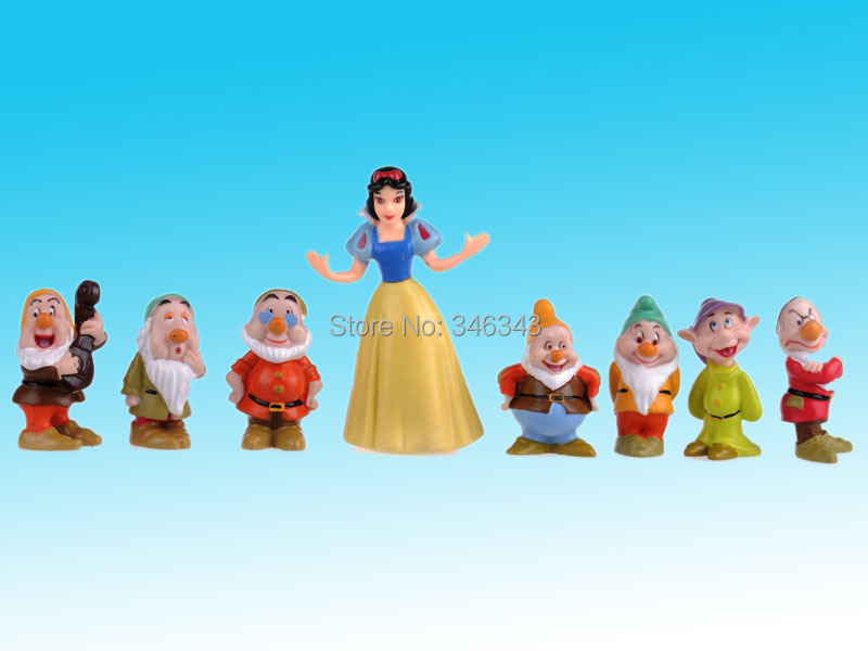 kids Collection Snow White AND THE Seven Dwarfs TOY Figure Figurine Cake Topper SET(China (Mainland))