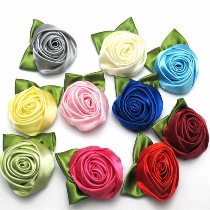 YJ Fashion 2016 New Summer Style Women's Fashion Ladies Girls Rose Flower Cloth Hair Clip Brooches Wedding Costume Headwear(China (Mainland))
