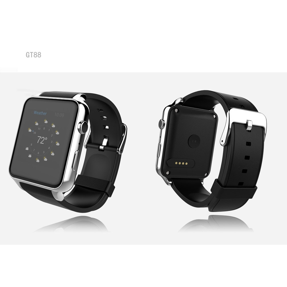 Bluetooth Smart Watch GT88 Clock Heart Rate Health Fitness Measure Wearable Device with GSM GPRS SIM