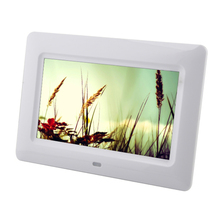 "Digital Photo Frame 7"" HD TFT-LCD Digital Picture Frame Alarm clock Timing Switch MP3 MP4 Movie Player with Remote Desktop"