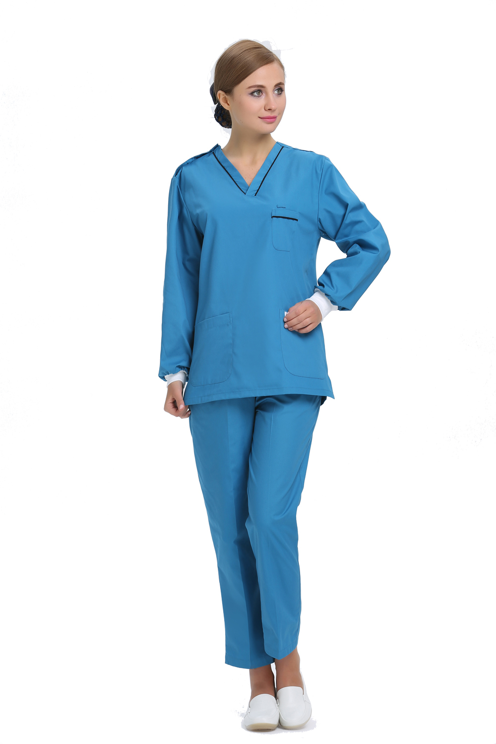 2015 OEM scrub sets hospital medical coat hospital workwear scrub suit hot sale for winter(China (Mainland))