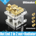 3D printer Heaterblock Ultimaker 2 UM2 Extended double Olsson block kit interchangeable nozzle Heat Sink hotend