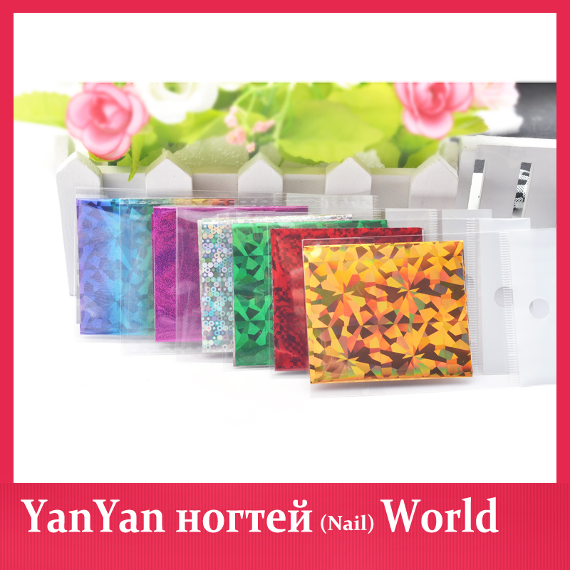 Nail Art Stickers,46Designs 10pcs/set Hot Aluminum Transfer Foils Decals,DIY Stylish Manicure Beauty Salon Nail Craft Supplies(China (Mainland))