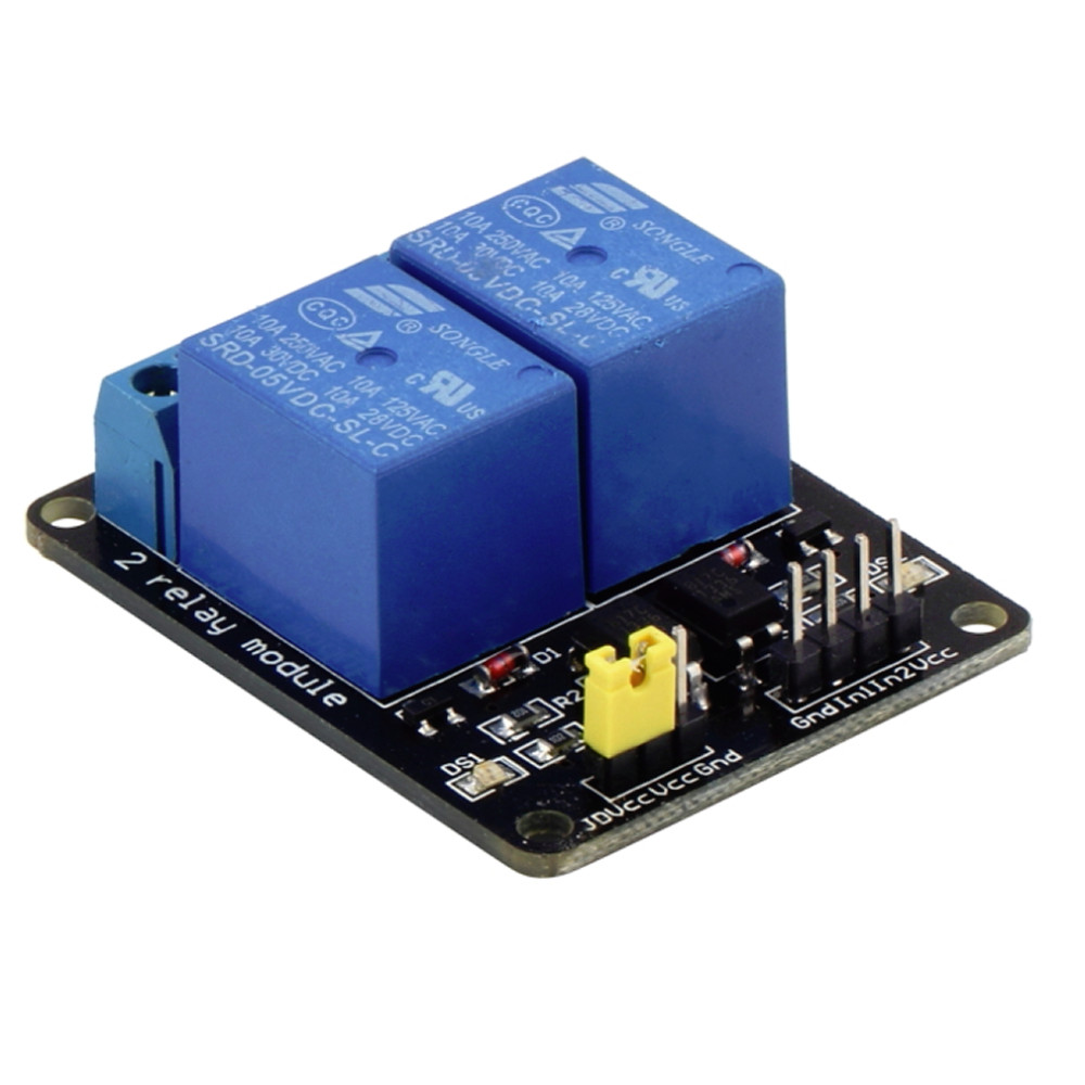 image for 5V 2 Channel Relay Module Shield For Arduino ARM PIC AVR DSP MCU Elect