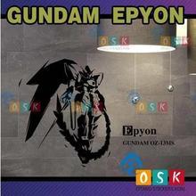 Japanese Cartoon Vinyl Decal Anime Moblie Suit EPYON GUNDAM 0Z-13MS Wall Sticker Bedroom DecorWall Sticker for Kid's Room